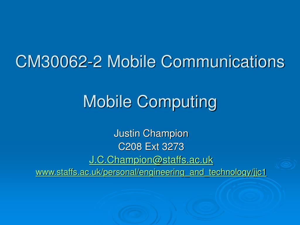 cm30062 2 mobile communications mobile computing