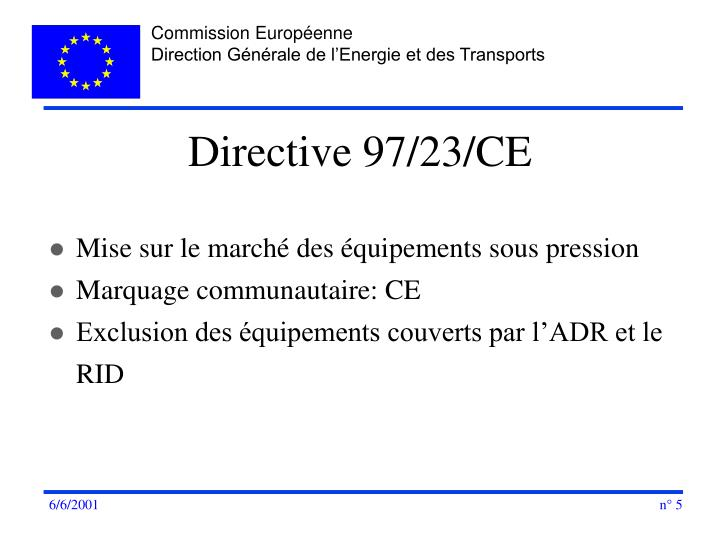Directive 97/23/CE