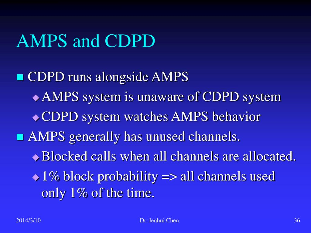 AMPS and CDPD