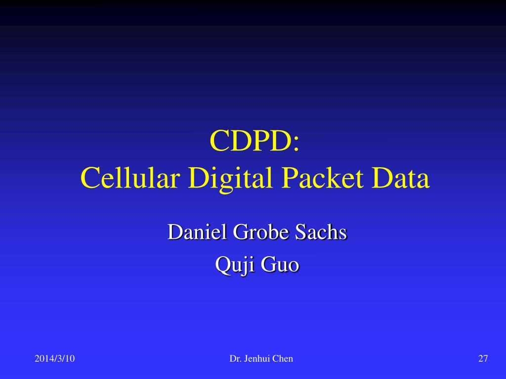 CDPD: