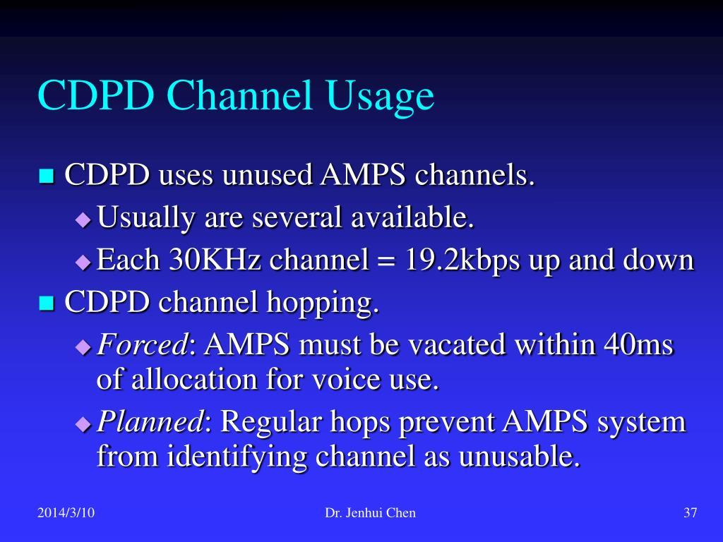 CDPD Channel Usage