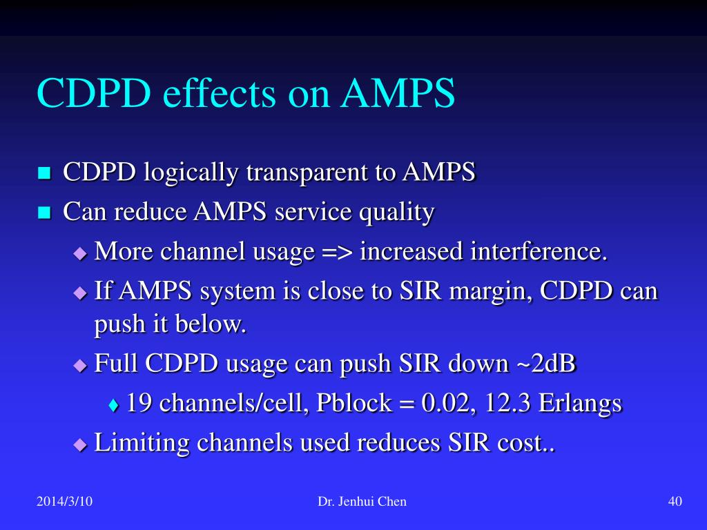 CDPD effects on AMPS