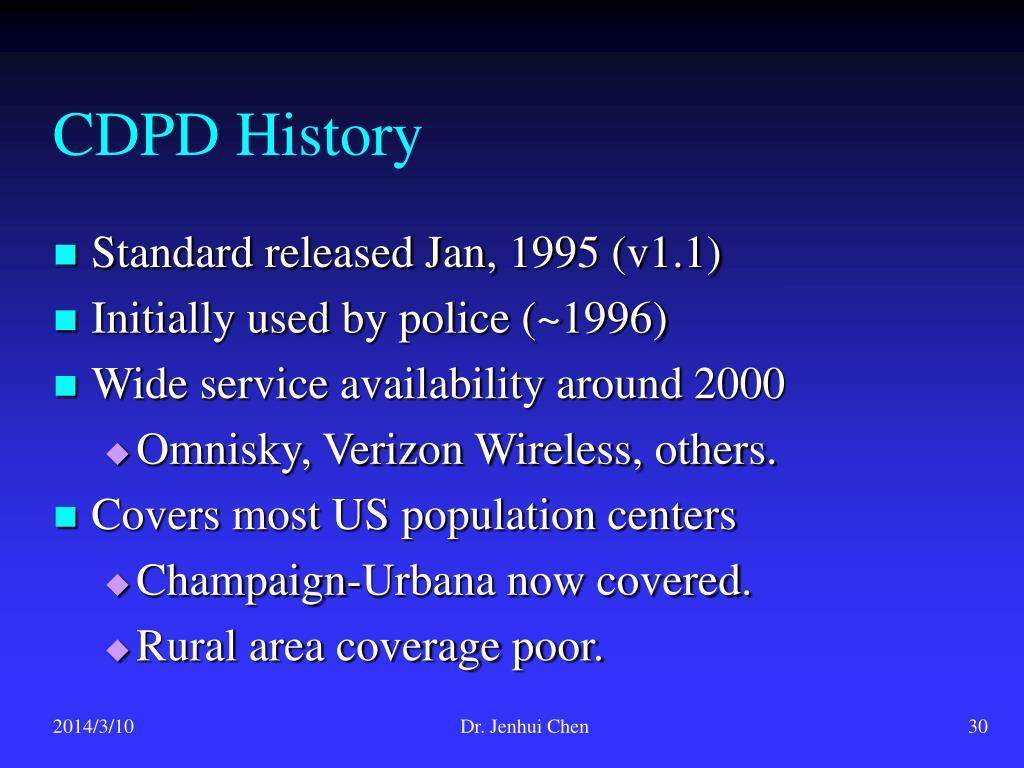 CDPD History