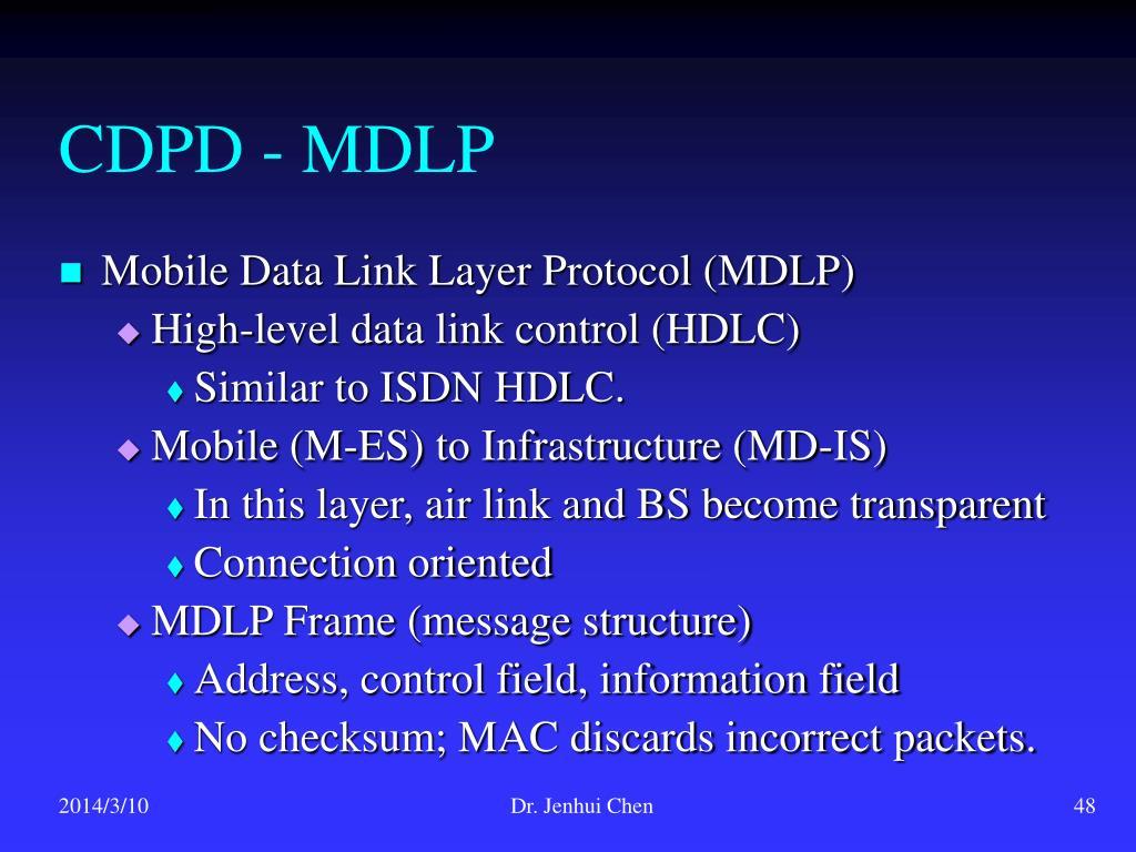 CDPD - MDLP