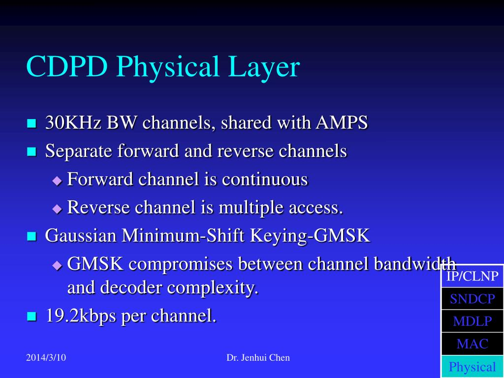 CDPD Physical Layer