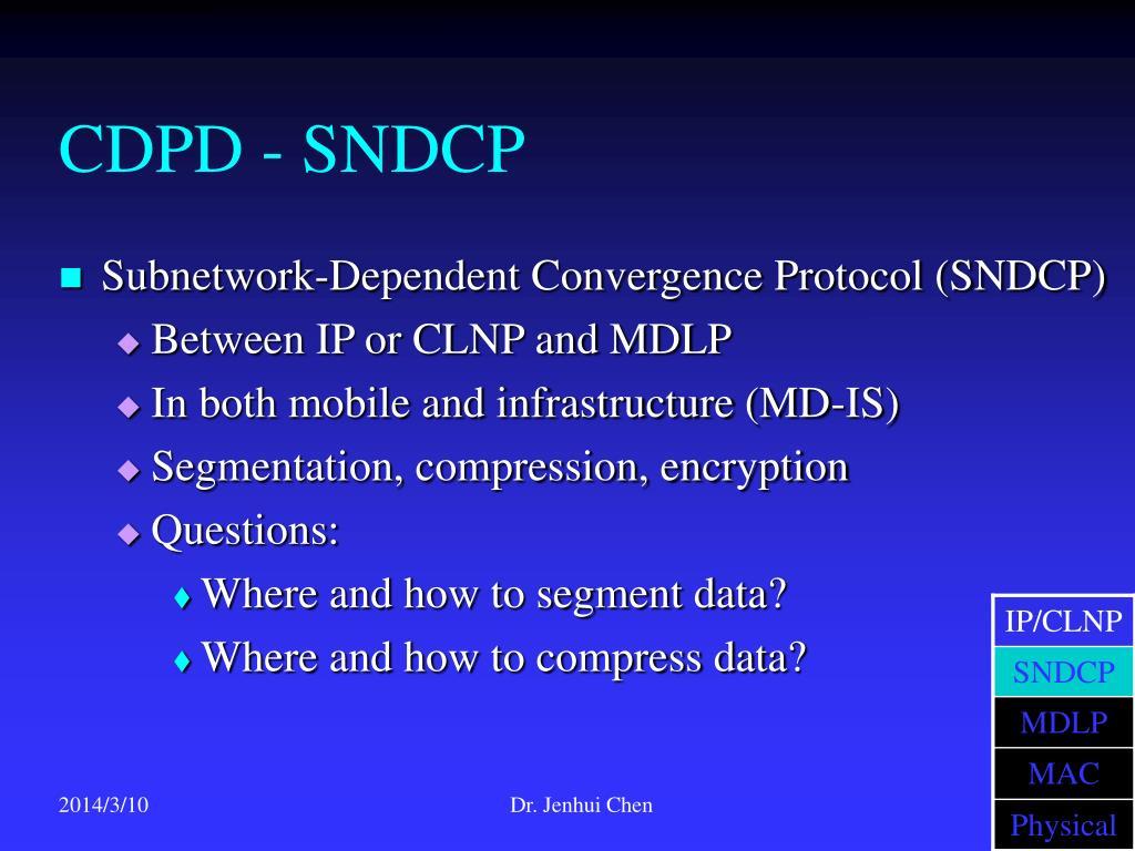 CDPD - SNDCP