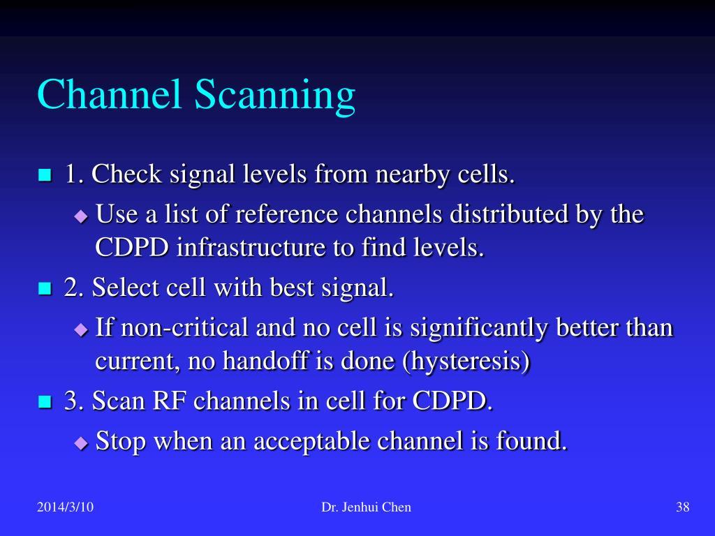 Channel Scanning