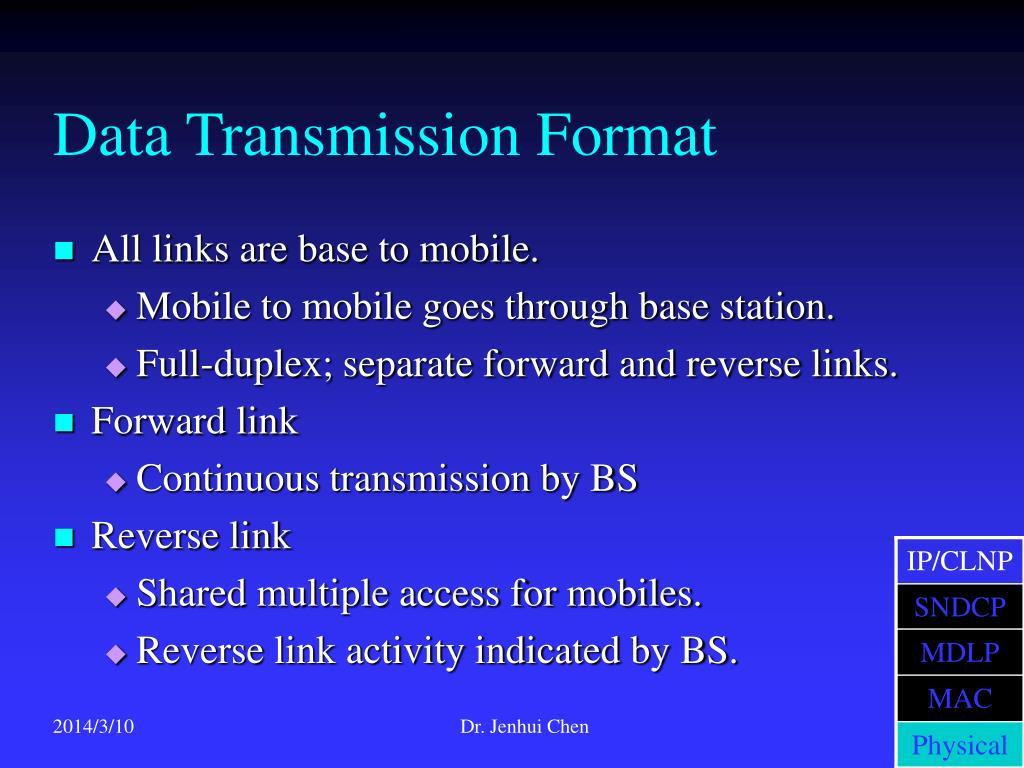Data Transmission Format