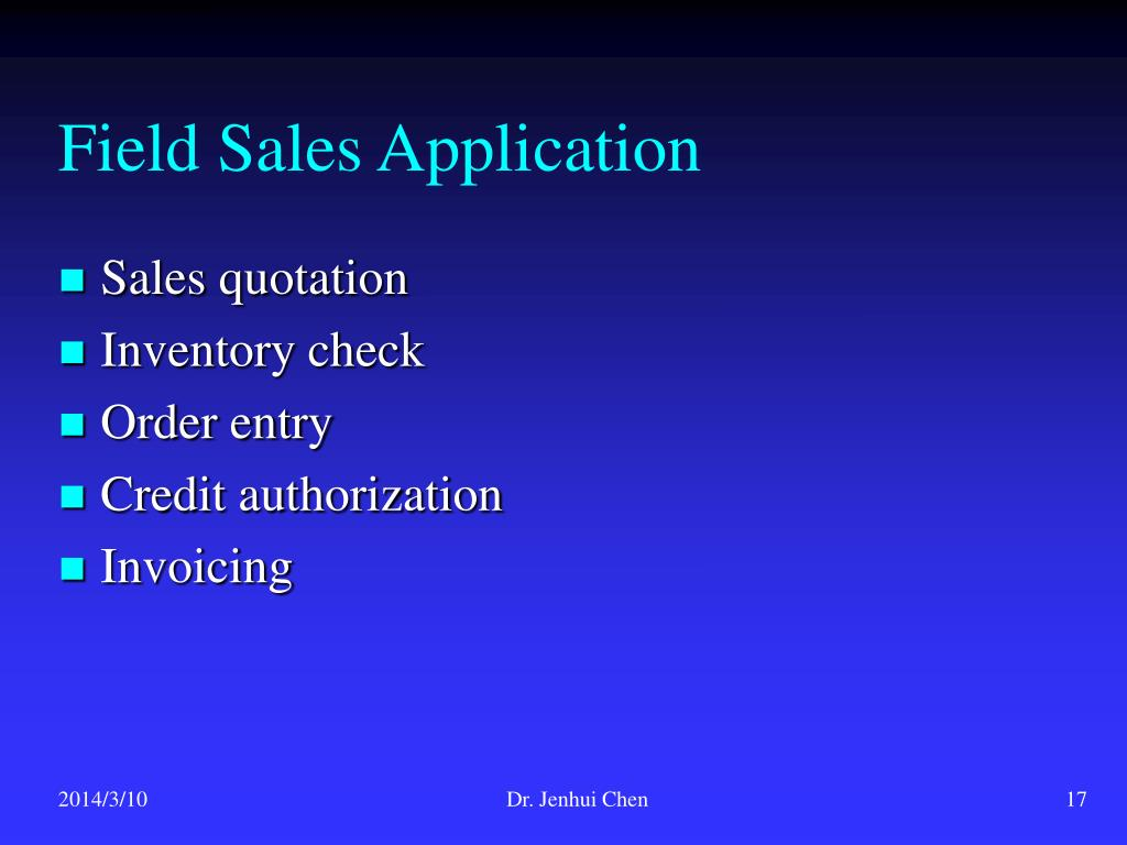 Field Sales Application