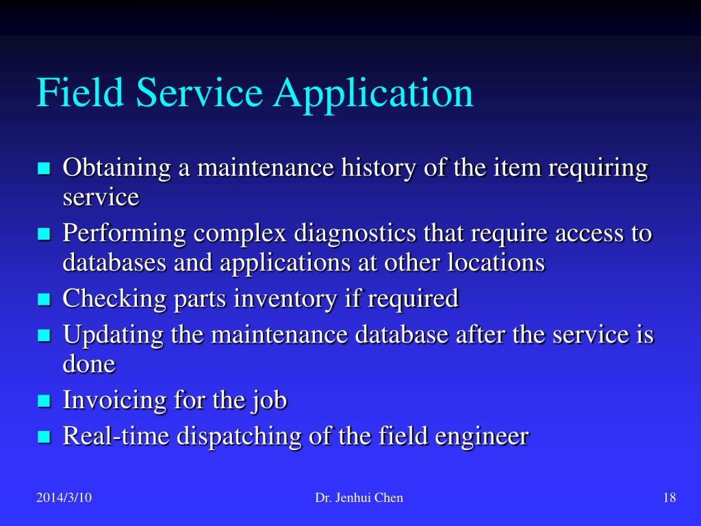 Field Service Application