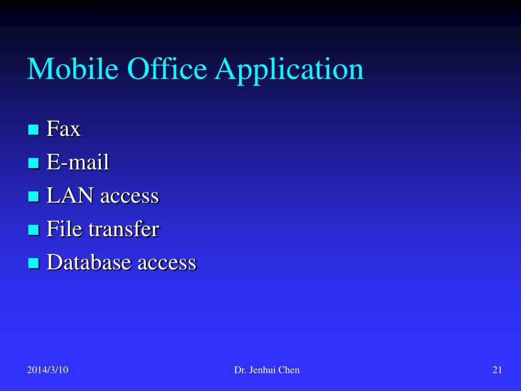 Mobile Office Application