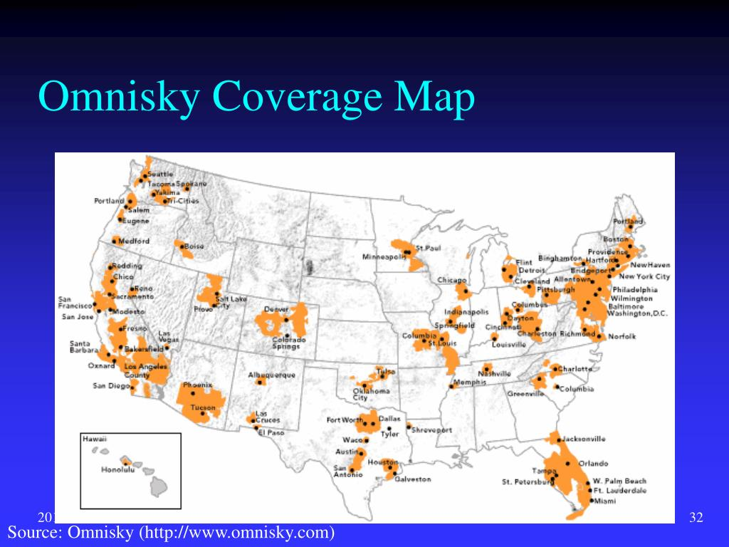 Omnisky Coverage Map