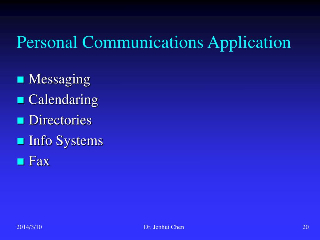 Personal Communications Application