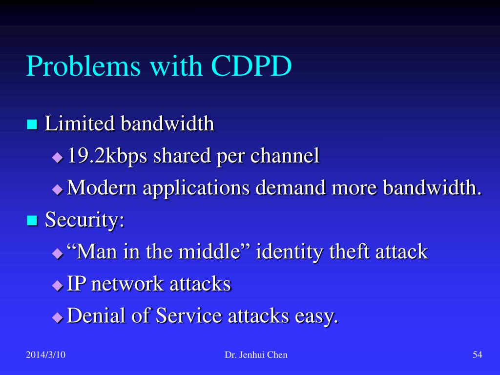 Problems with CDPD