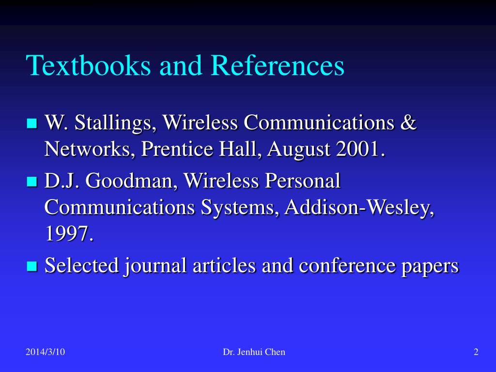 Textbooks and References