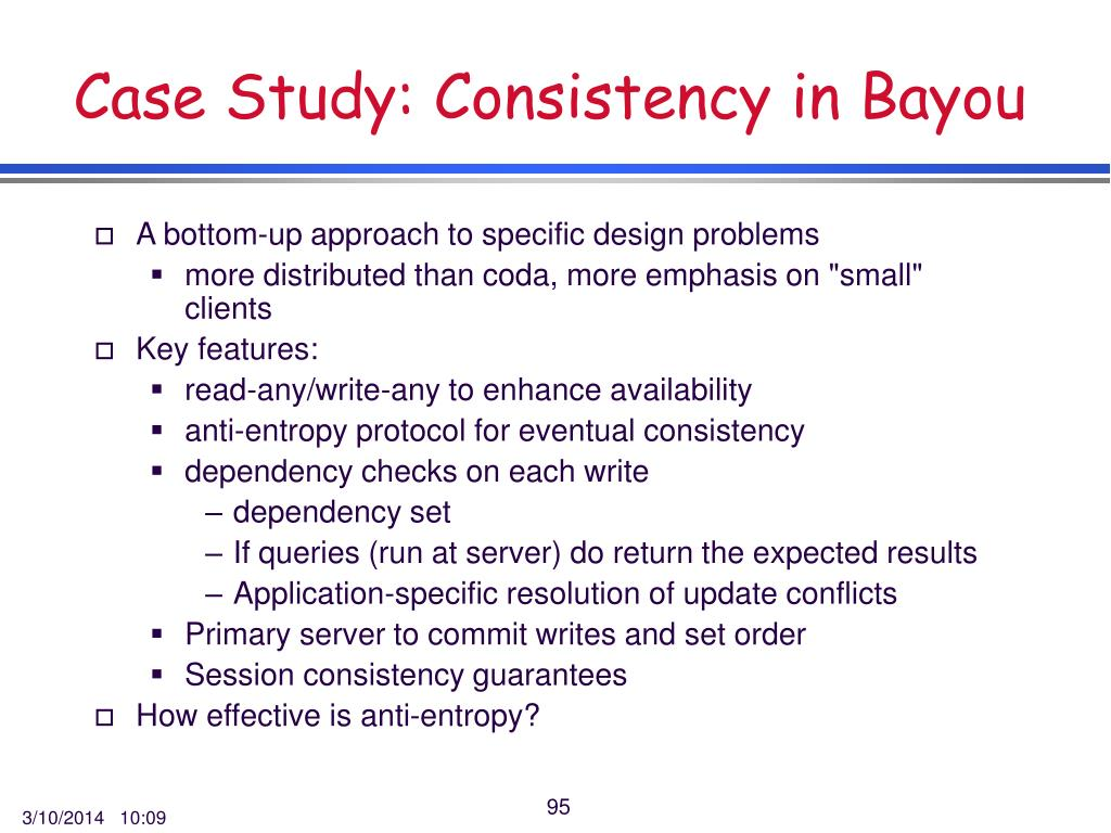 Case Study: Consistency in Bayou