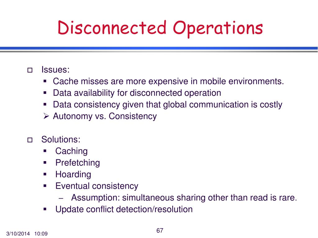 Disconnected Operations