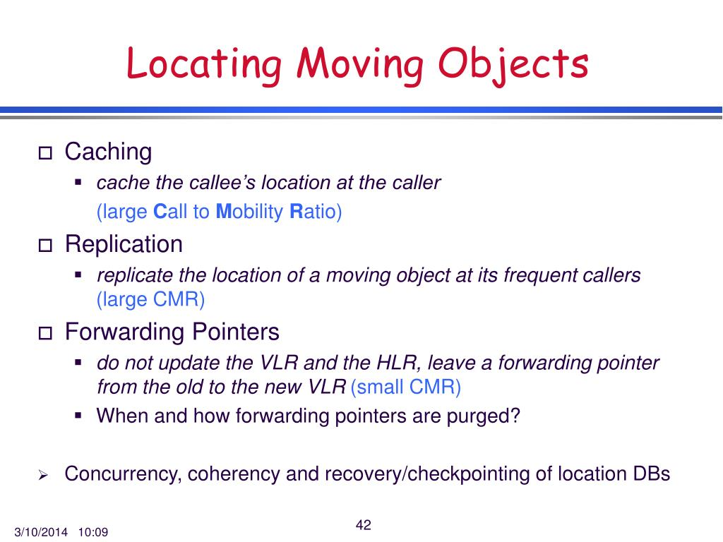 Locating Moving Objects