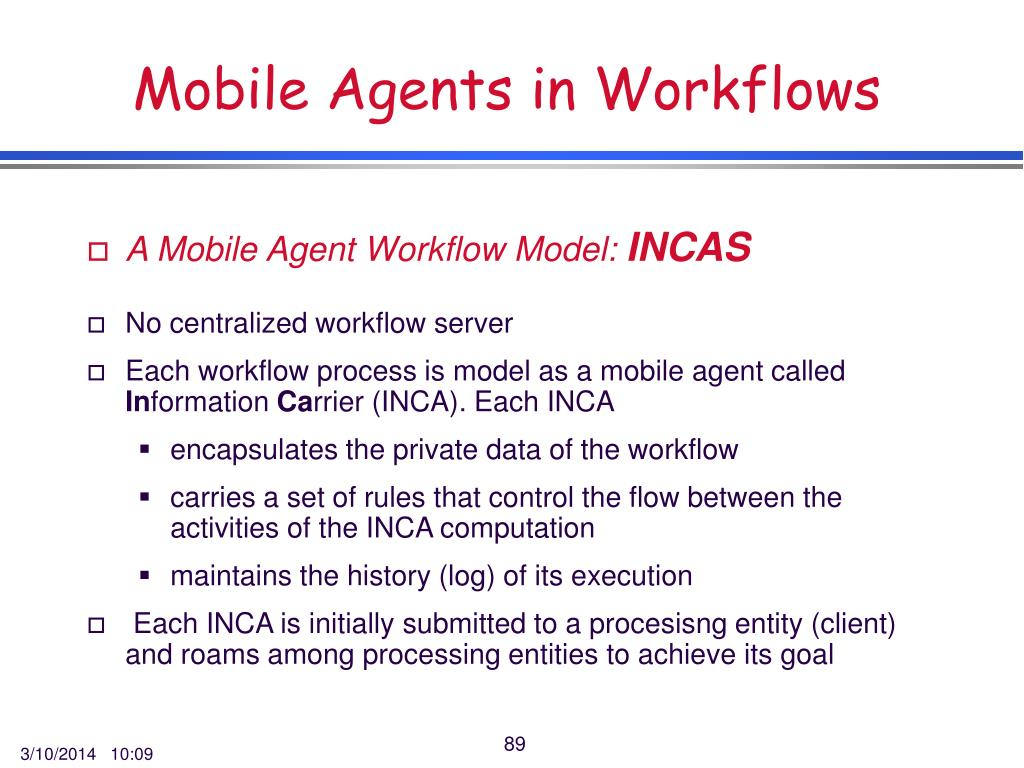 Mobile Agents in Workflows