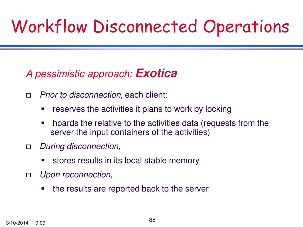 Workflow Disconnected Operations