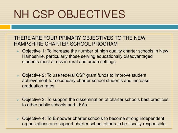 Nh csp objectives
