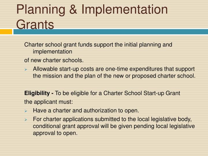 Planning & Implementation Grants