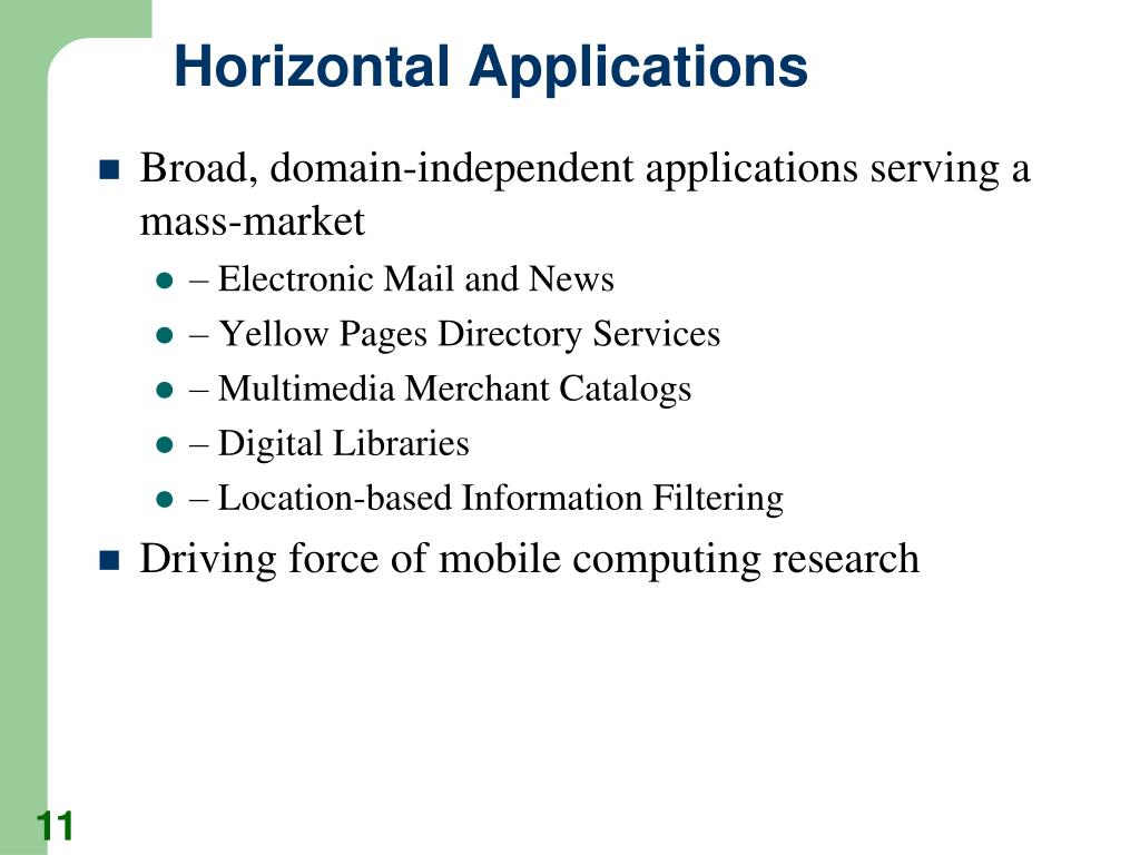 Horizontal Applications