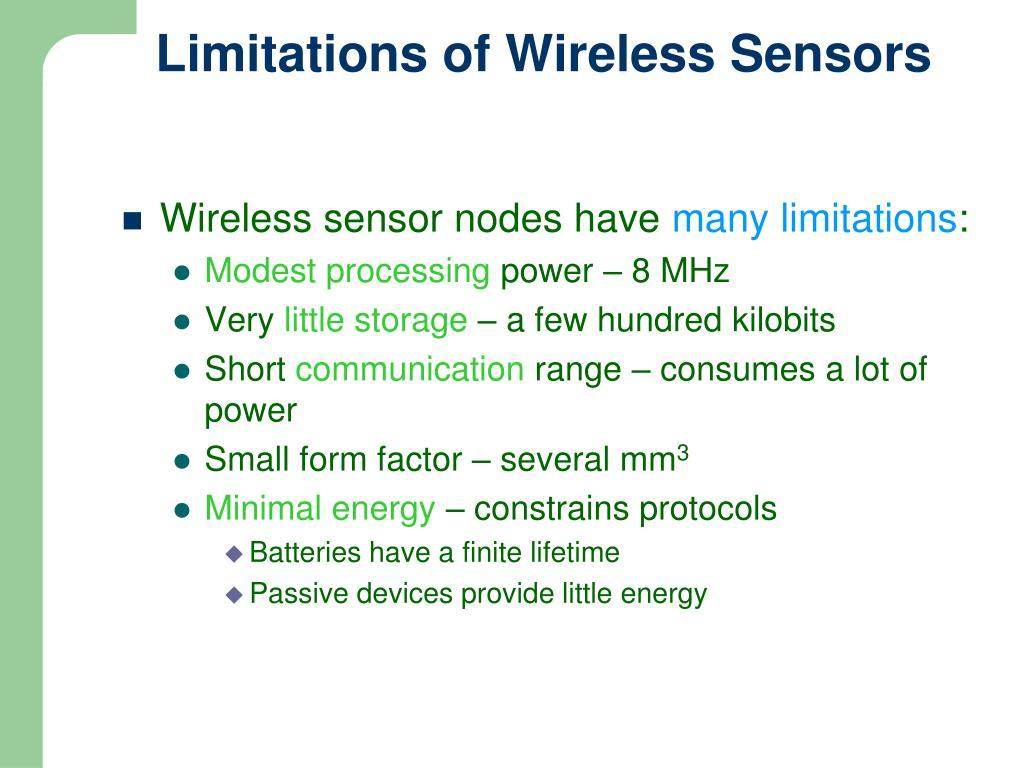 Limitations of Wireless Sensors