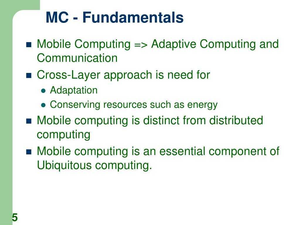 MC - Fundamentals
