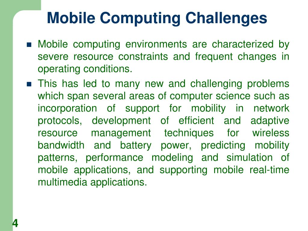 Mobile Computing Challenges
