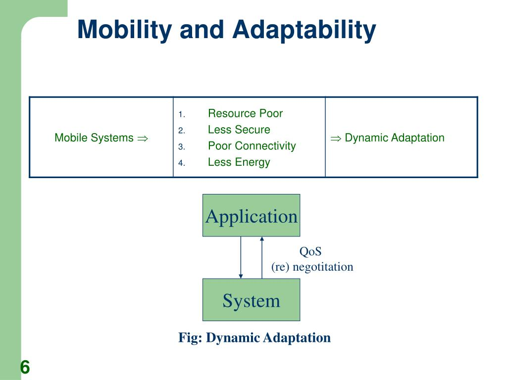 Mobility and Adaptability