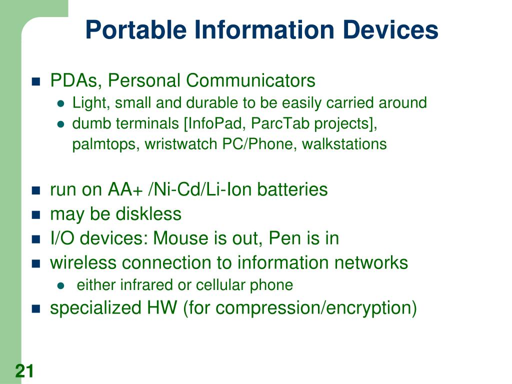 Portable Information Devices
