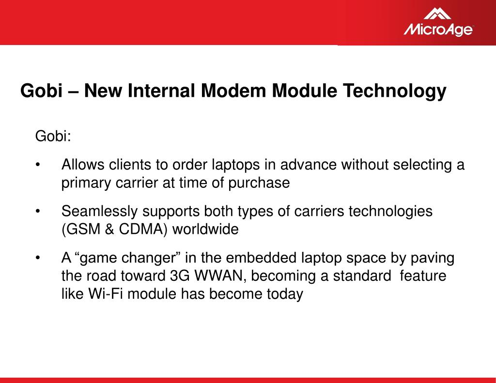Gobi – New Internal Modem Module Technology