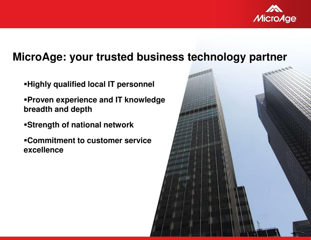 MicroAge: your trusted business technology partner