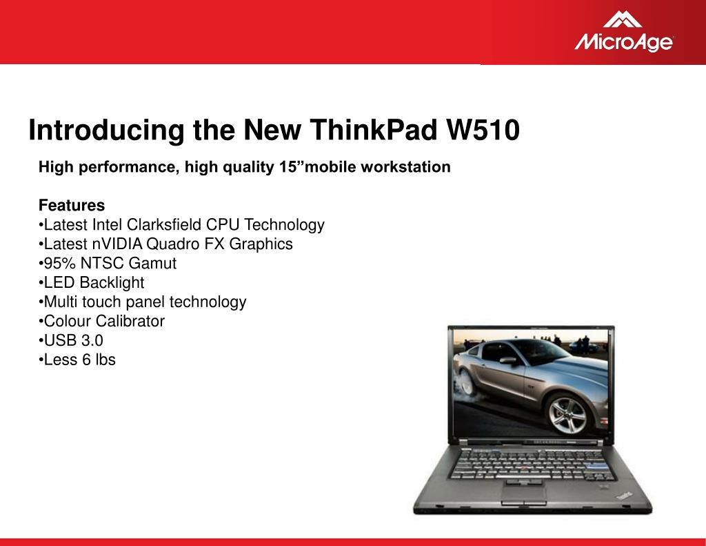 Introducing the New ThinkPad W510