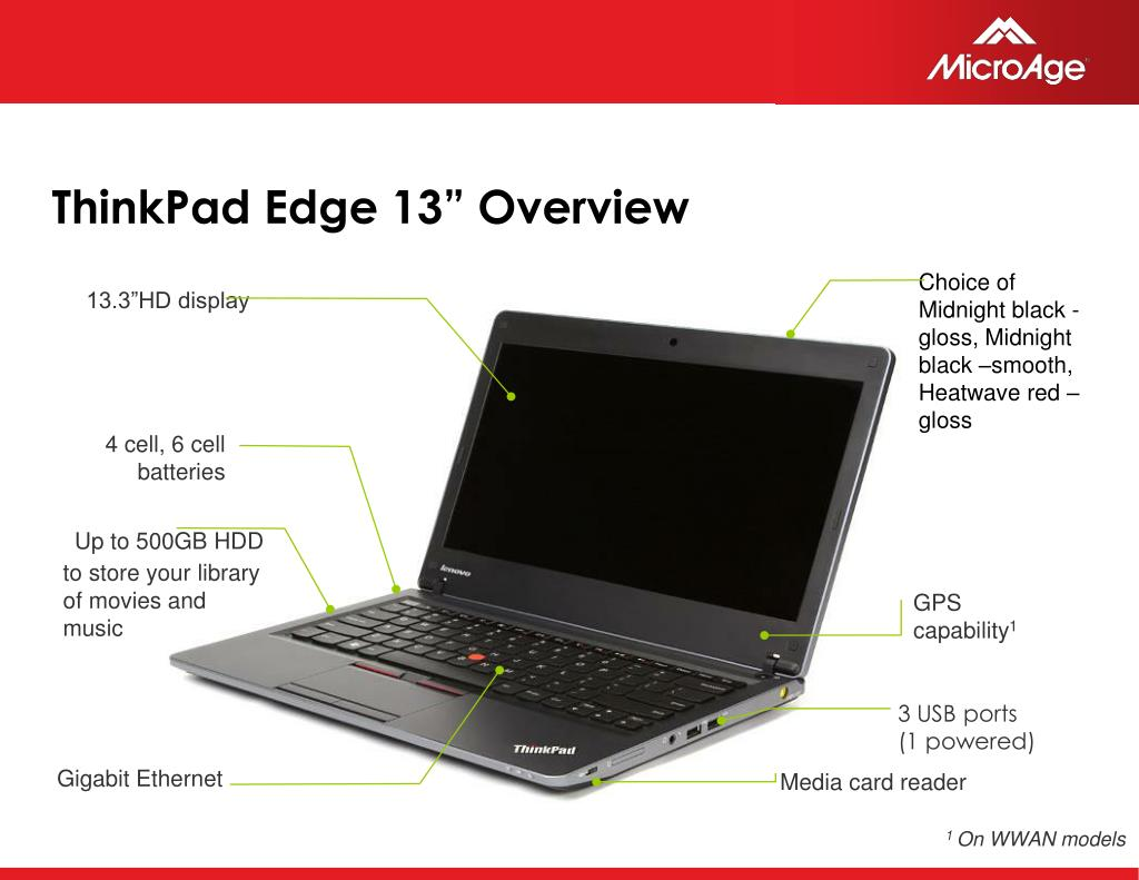 "ThinkPad Edge 13"" Overview"