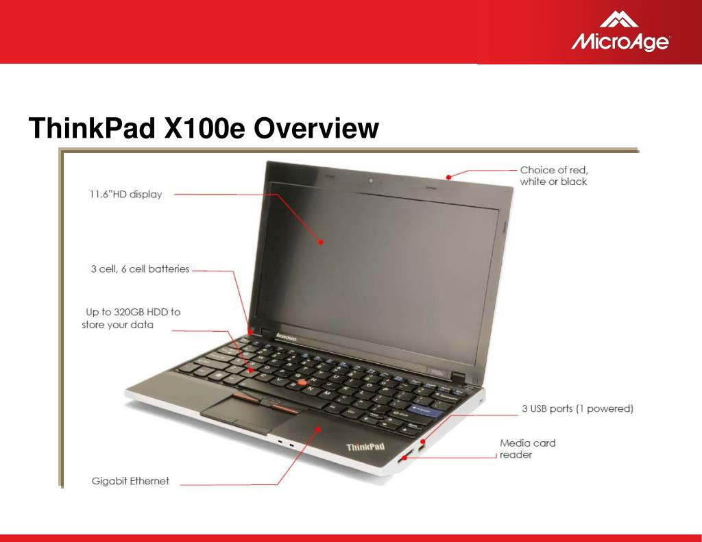 ThinkPad X100e Overview