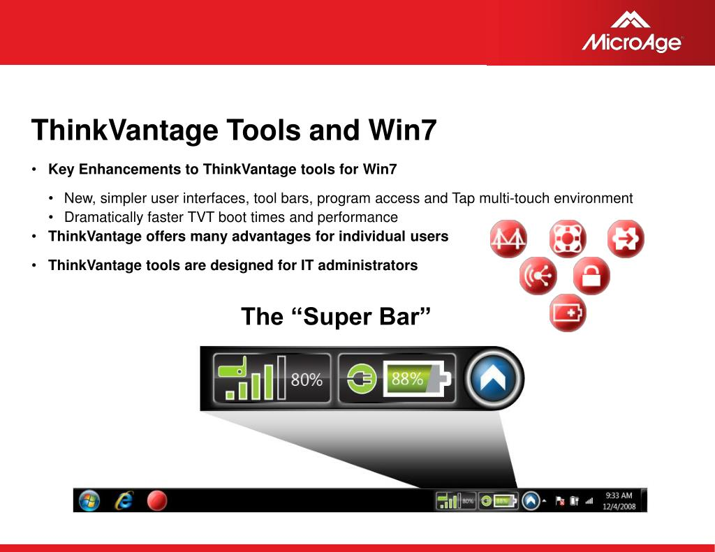 ThinkVantage Tools and Win7