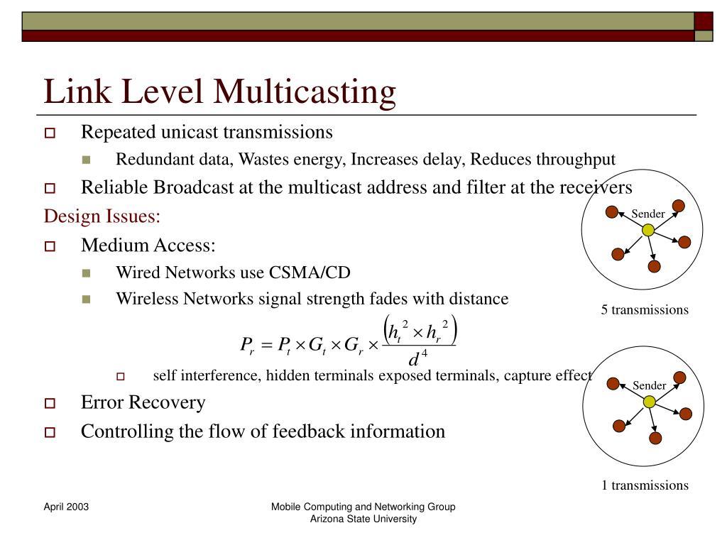 Link Level Multicasting