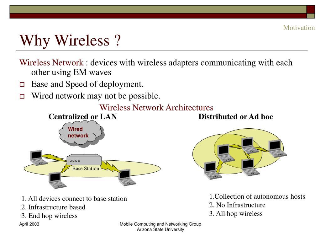 Why Wireless ?