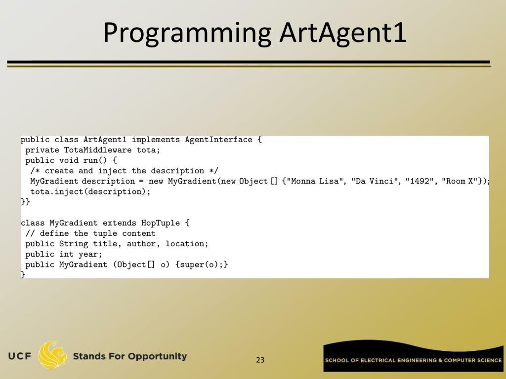 Programming ArtAgent1