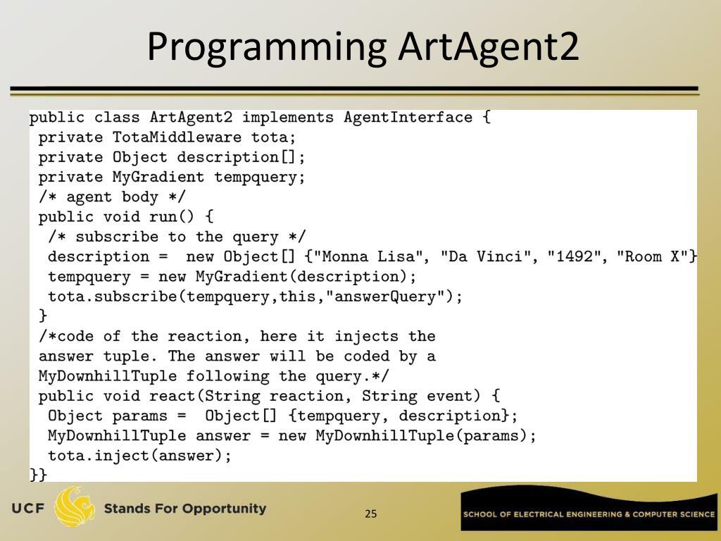 Programming ArtAgent2