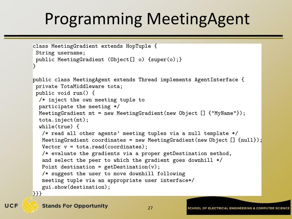 Programming MeetingAgent