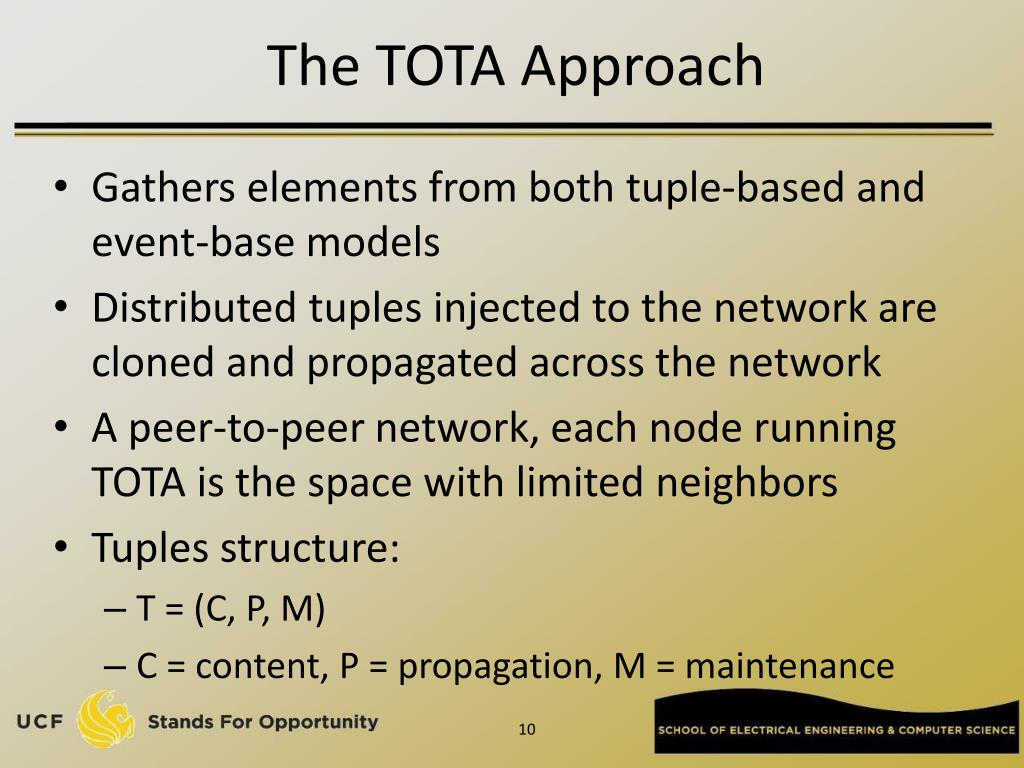 The TOTA Approach