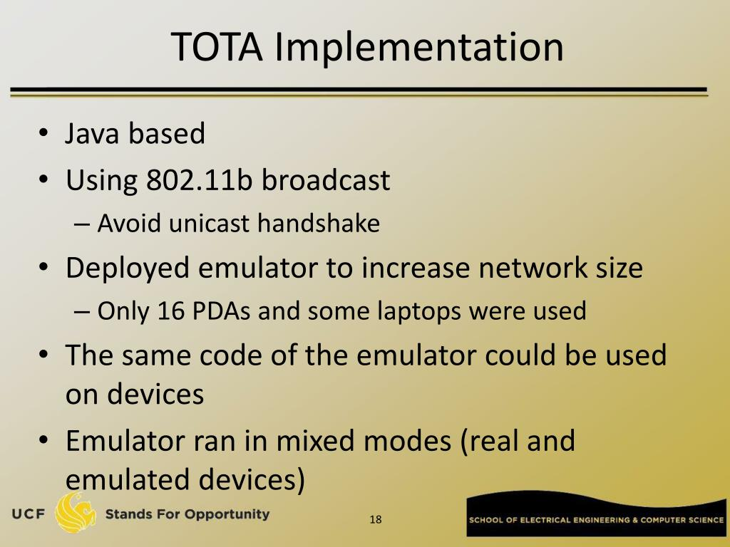 TOTA Implementation