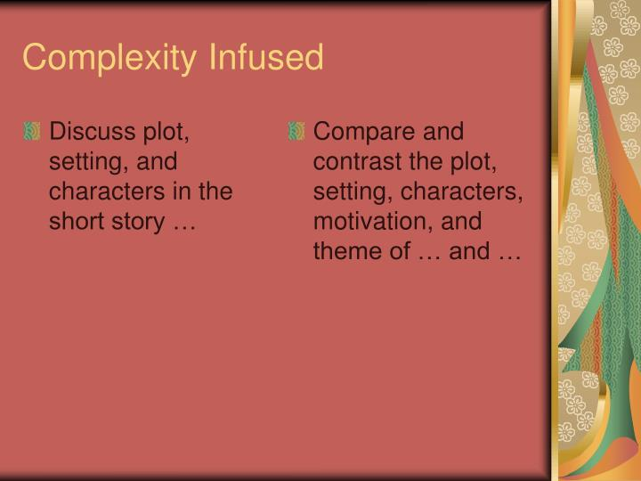 Discuss plot, setting, and characters in the short story …