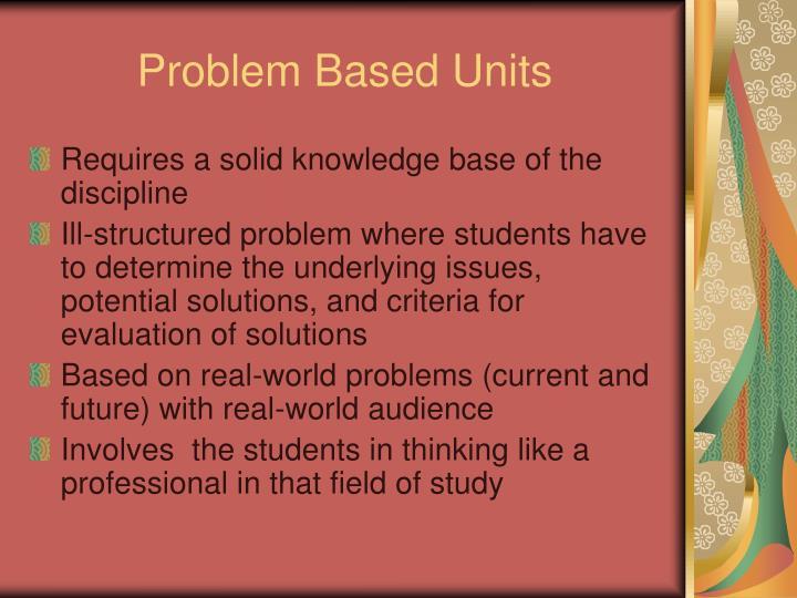 Problem Based Units