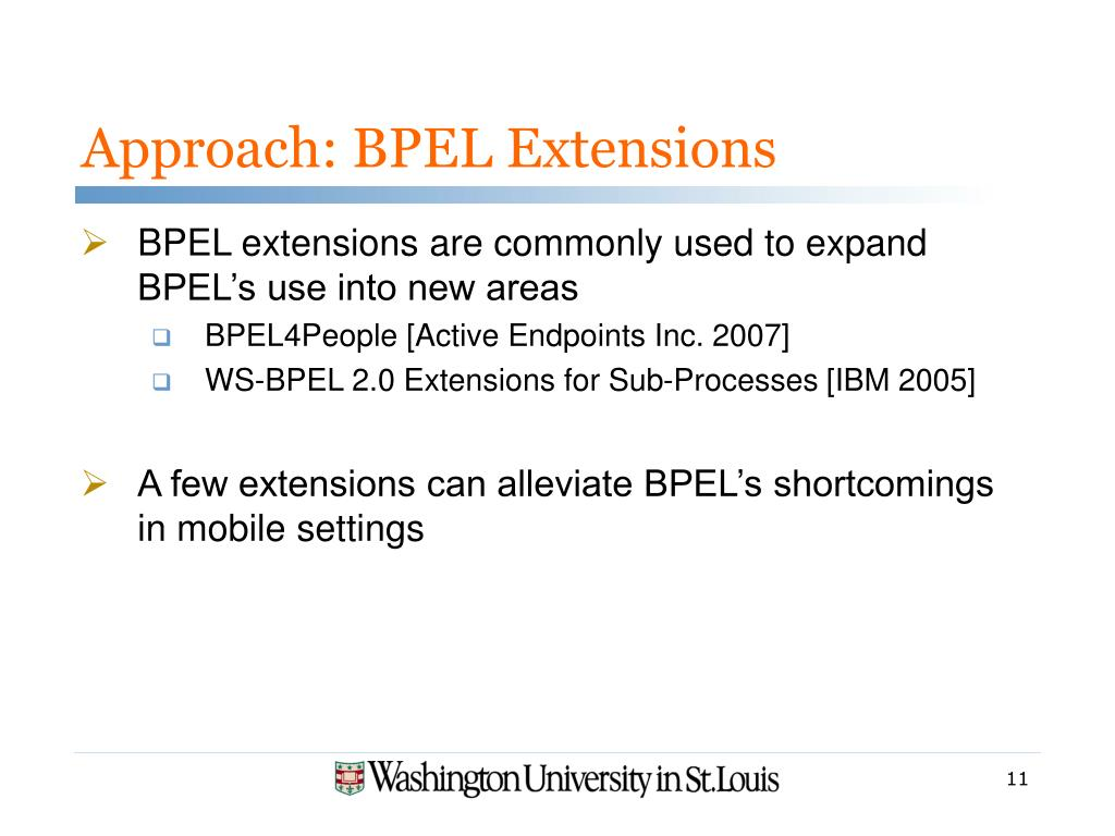 Approach: BPEL Extensions