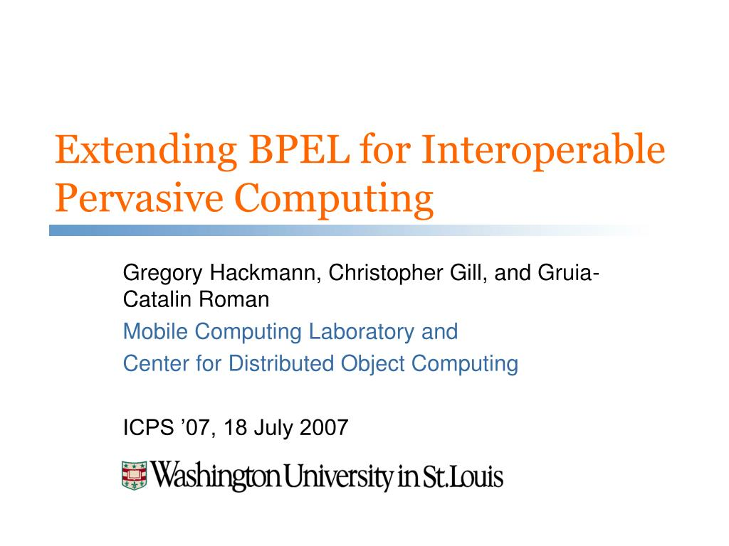 Extending BPEL for Interoperable Pervasive Computing