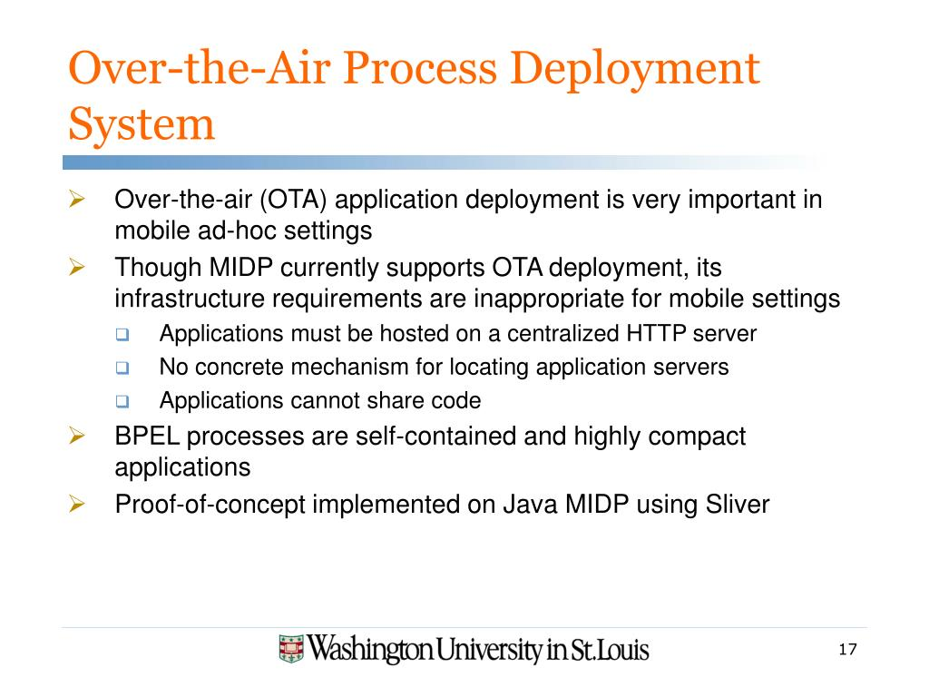 Over-the-Air Process Deployment System